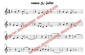 نت آهنگ رومئو و ژولیت